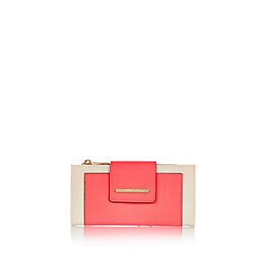 Bright pink tab purse