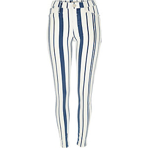 White stripe Molly jeggings