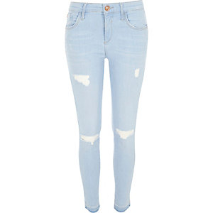 Light wash ripped Amelie superskinny jeans
