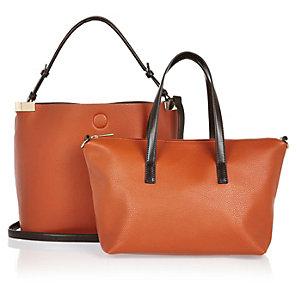Orange sleek slouch bag