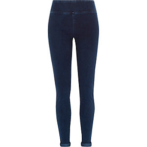 Dark wash high waisted denim leggings