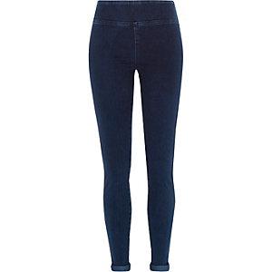 Dark wash high waisted denim leggings