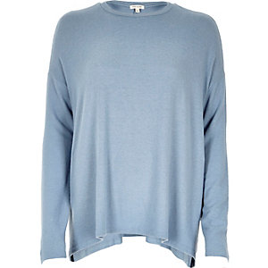 Light blue casual swing top