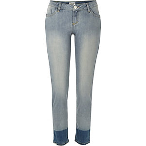 Mid wash Alannah relaxed skinny dip dye jeans