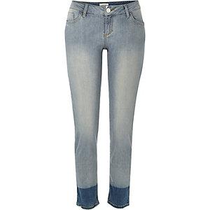 Mid wash Matilda skinny dip dye jeans