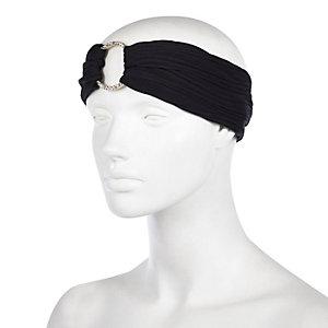 Black ring hair turban