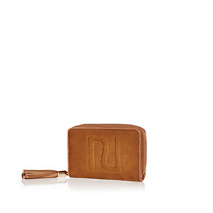 Tan RI faux suede purse