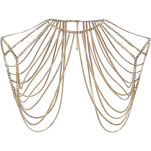 Goldene Schulterkette mit Gliedern