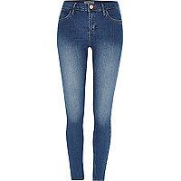 Jean super skinny Amelie délavage bleu moyen