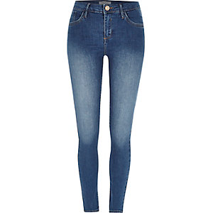 Mid blue wash Amelie superskinny jeans