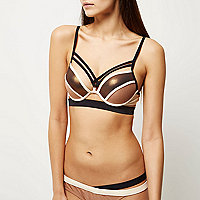 RI Resort bronze strap push-up bikini top