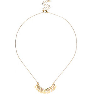 Gold tone delicate embellished necklace