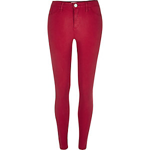 Red sateen Molly jeggings