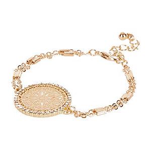Gold tone filigree bracelet