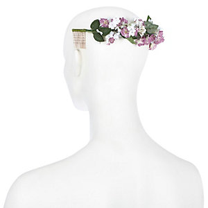 Pink flower back crown