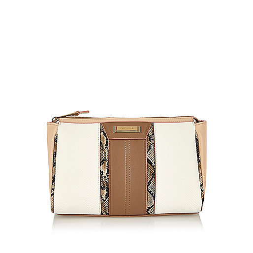 White panelled wash bag - luggage - bags / purses - women