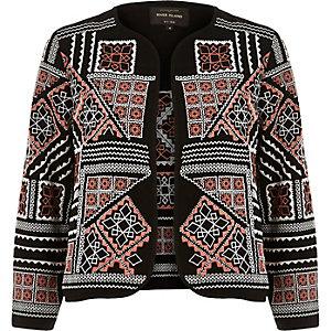 Black embellished beaded jacket