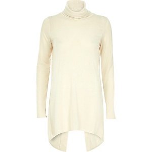 Cream knitted open back jumper