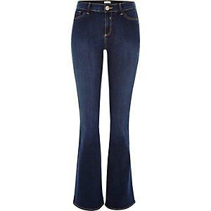 Dark blue wash Molly flared jeggings