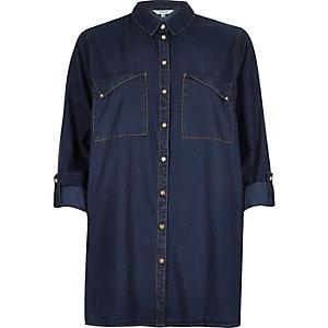 Dark denim minimal shirt