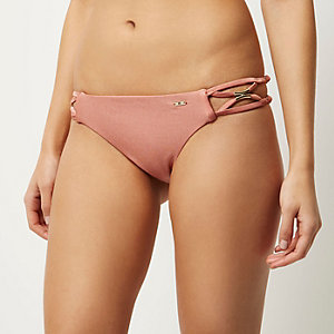 RI Resort brown strappy side bikini bottoms