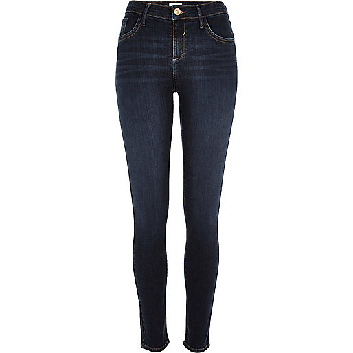 Dark faded wash Amelie super skinny jeans