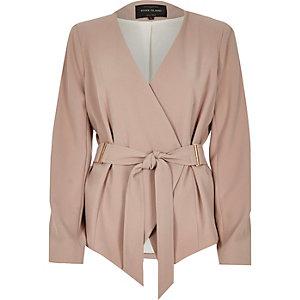 Dark beige belted jacket