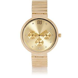 Gold tone minimal chunky watch