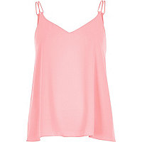 Bright pink double strap cami