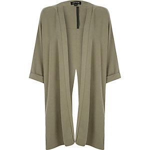 Khaki split back kimono