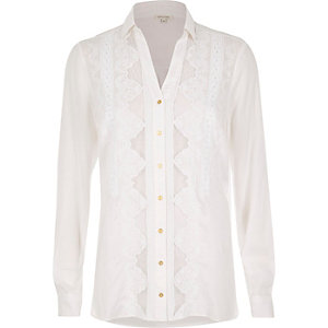 White Victoriana shirt