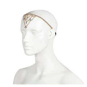 Gold tone embellished front headband