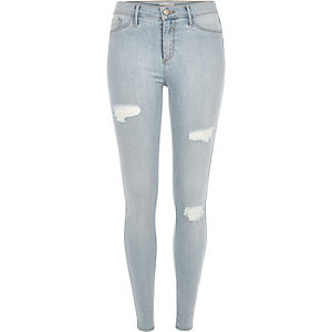 Light wash dipped Molly jeggings