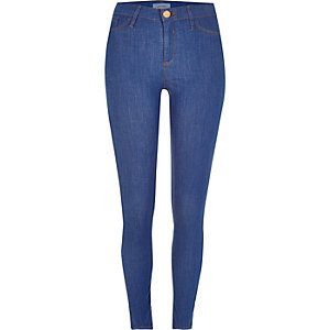 Bright blue wash premium Molly jeggings