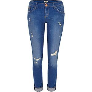 Bright blue Matilda skinny jeans