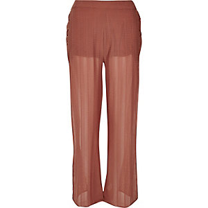 RI Resort brown eyelet split flares