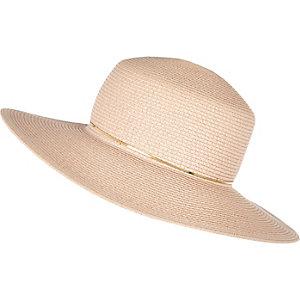 Light pink straw shaker hat