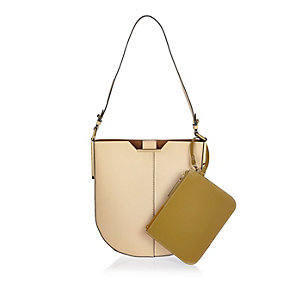 Cream RI Studio leather saddle handbag