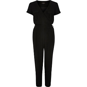 Black smart waisted jumpsuit