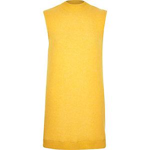 Dark yellow sleeveless top
