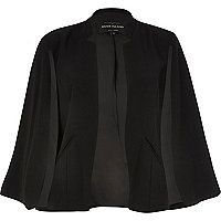 Black smart cape jacket