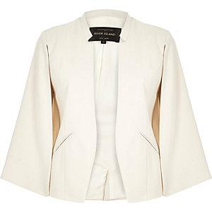 Cream smart cape jacket
