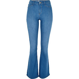 Blue wash Molly flare jeggings