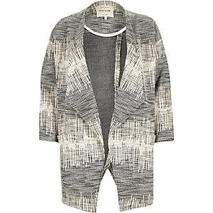 Navy pattern slouchy jacket