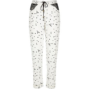 White star lace pajama pants