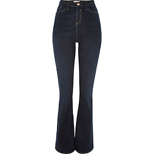Dark wash high rise Molly flared jeggings