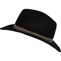 Black chain trim stetson hat