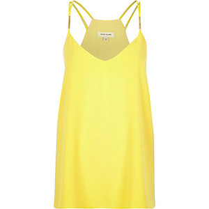 Yellow double strap cami
