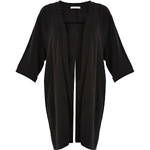 RI Plus black split back kimono