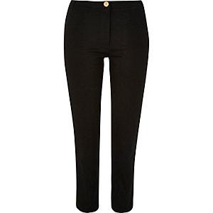 Black slim ponte pants